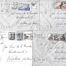 Sellos: 1946-47 LOTE 4 CARTAS BARCELONA A SUIZA CORREO AÉREO.. Lote 245405680