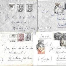 Sellos: 1946-47 LOTE 4 CARTAS BARCELONA A SUIZA CORREO AÉREO.. Lote 245406535