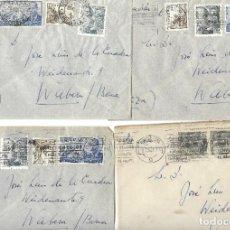 Sellos: 1946-47 LOTE 4 CARTAS BARCELONA A SUIZA CORREO AÉREO.. Lote 245443840
