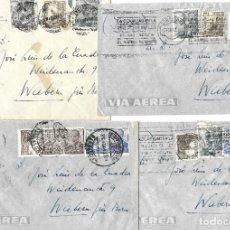 Sellos: 1946-47 LOTE 4 CARTAS BARCELONA A SUIZA CORREO AÉREO.. Lote 245444265