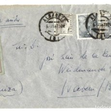 Sellos: 1947 CARTA ALBACETE A SUIZA CORREO AÉREO.. Lote 245453355
