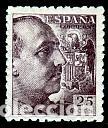 ESPAÑA.- SELLO Nº 923 FRANCO DENTADO GRUESO NUEVO SIN CHARNELA. (Sellos - España - Estado Español - De 1.936 a 1.949 - Nuevos)