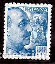 ESPAÑA.- SELLO Nº 924 FRANCO DENTADO GRUESO NUEVO SIN CHARNELA. (Sellos - España - Estado Español - De 1.936 a 1.949 - Nuevos)