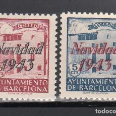 Francobolli: BARCELONA. 1943 EDIFIL Nº SH 53 / SH 54 /**/, SIN FIJASELLOS. Lote 245589380