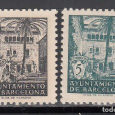 Francobolli: BARCELONA. 1944 EDIFIL Nº SH NE 27 / SH NE 28 /**/, SIN FIJASELLOS. Lote 245619375