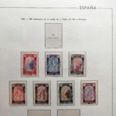Sellos: HOJA 81 EDIFIL ESPAÑA.CON SELLOS 1940, CENTENARIO VIRGEN DEL PILAR PROTECTOR TRANSPARENTE.VER FOTOS. Lote 245897780