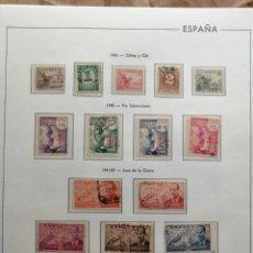 Sellos: HOJA 82 EDIFIL ESPAÑA.CON SELLOS 1940 Y 1041-50 PROTECTOR TRANSPARENTE.VER FOTOS. Lote 245898715
