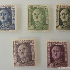 Sellos: ESPAÑA 1946 - 1947 EDIFIL 999/1001 1060/1061 GENERAL FRANCO NUEVO SIN FIJASELLOS. Lote 246149230