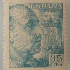 Selos: ESPAÑA 1951 EDIFIL 1050 FRANCO 35 CTM NUEVO SIN FIJASELLOS. Lote 246286010