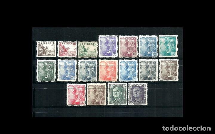 ESPAÑA - 1949-1953 - EDIFIL 1044/1061 - SERIE COMPLETA - MNH** - NUEVOS - CID Y GENERAL FRANCO. (Sellos - España - Estado Español - De 1.936 a 1.949 - Nuevos)