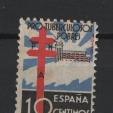 Sellos: TV_003.G13/ ESPAÑA, PROTUBERCULOSOS, 1938, EDIFIL 866*, CON FIJASELLOS. Lote 247993245
