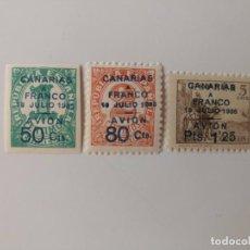 Selos: CANARIAS CORREO AÉREO DEL AÑO 1937 EDIFIL 11/13 EN NUEVO**. Lote 248502340
