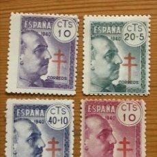 Sellos: PRO TUBERCULOSOS, 1940, EDIFIL 936 AL 939, NUEVOS CON FIJASELLOS. Lote 251299000