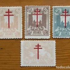 Sellos: PRO TUBERCULOSOS, 1942, EDIFIL 957 AL 960, NUEVOS CON FIJASELLOS. Lote 251299040