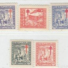 Selos: EDIFIL 984 988 MNH SELLOS NUEVOS **/* ESPAÑA 1944 PRO TUBERCULOSOS. Lote 251805105