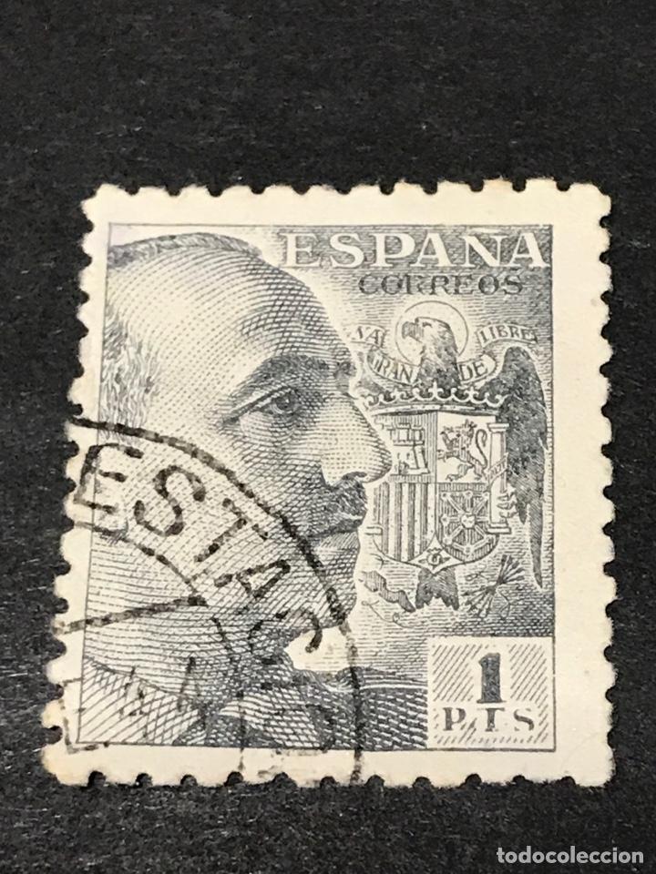 EDIFIL 931 1 PTS FRANCO, USADO (Sellos - España - Estado Español - De 1.936 a 1.949 - Usados)