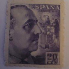 Sellos: SELLO DE ESPAÑA 1940. GENERAL FRANCO. 20 CTS. NUEVO. Lote 252142725