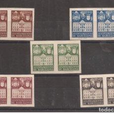 Francobolli: 1942 FACHADA AYUNTAMIENTO BARCELONA EDIFIL 33S/37S** VC 146,00€. Lote 253062375