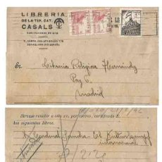 Selos: AYUNTAMIENTO DE BARCELONA 5 CTS NEGRO. 1942. EL CID 10 CTS. Lote 253429625