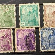 Sellos: AÑO1948-54. Nº 1024/32 SERIE GENERAL FRANCO Y CASTILLO DE LA MOTA. Lote 254046340