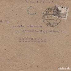 Sellos: CARTA DE 1947 CON MATASELLOS DE PUEBLO NUEVO DEL TERRIBLE (CÓRDOBA) HISTORIA POSTAL. Lote 254430180