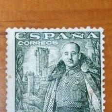 Sellos: SELLO ESPAÑA Nº 1025*. GRAL.FRANCO Y CASTILLO DE LA MOTA. NUEVO CON CHARNELA.. Lote 254476905