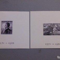 Selos: ESPAÑA-1938- ESTADO ESPAÑOL - EDIFIL 864/865 -F - (*)- NUEVAS - SERIE COMPLETA+CPA CERTIFICADO COMEX. Lote 283852103