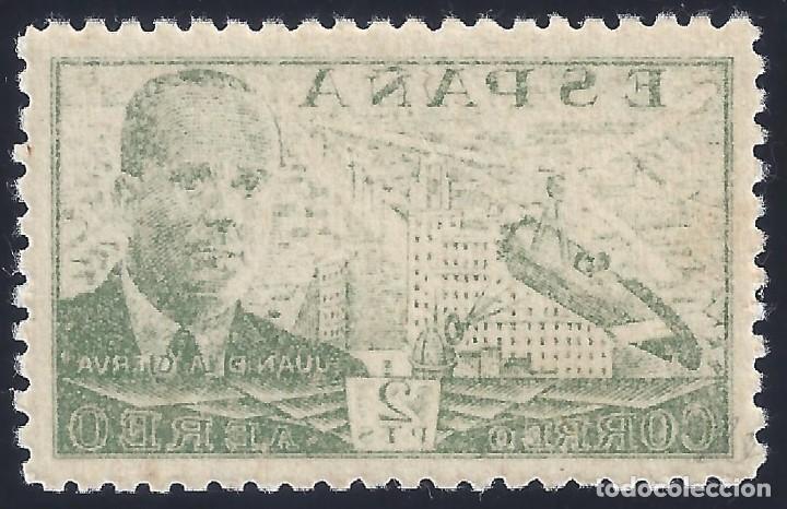 EDIFIL 945 JUAN DE LA CIERVA 1947 (VARIEDAD 945EM...CALCADO AL REVERSO). CENTRADO DE LUJO. MNH ** (Sellos - España - Estado Español - De 1.936 a 1.949 - Nuevos)