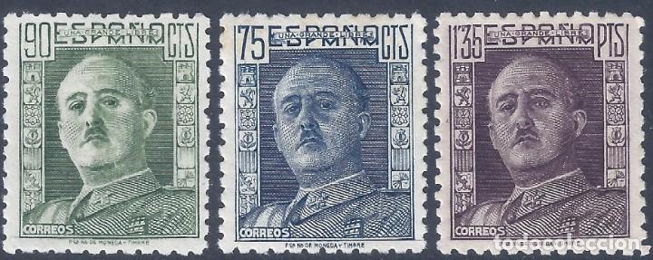 EDIFIL 999-1001 GENERAL FRANCO 1946-1947 (SERIE COMPLETA). VALOR CATÁLOGO: 21 €. MNH ** (Sellos - España - Estado Español - De 1.936 a 1.949 - Nuevos)