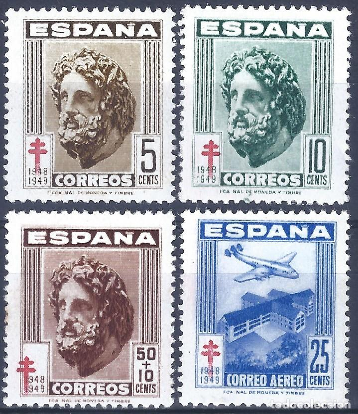 EDIFIL 1040-1043 PRO TUBERCULOSOS 1948 (SERIE COMPLETA). MNH ** (Sellos - España - Estado Español - De 1.936 a 1.949 - Nuevos)