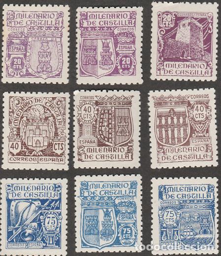 EDIFIL 974 982 MNH SELLOS ESPAÑA NUEVOS ** 1944 MILENARIO DE CASTILLA (Sellos - España - Estado Español - De 1.936 a 1.949 - Nuevos)