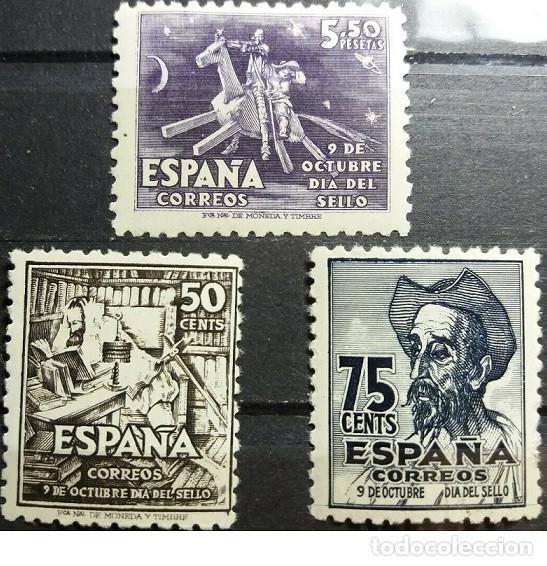 EDIFIL 1012 1014 MNH SELLOS ESPAÑA NUEVOS ** 1947 IV CENTENARIO NACIMIENTO DE CERVANTES (Sellos - España - Estado Español - De 1.936 a 1.949 - Nuevos)
