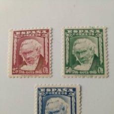Sellos: SERIE DE GOYA DEL AÑO 1946 EDIFIL 1005/1007 EN NUEVO**. Lote 255983490