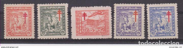 EDIFIL 984 988 MNH SELLOS ESPAÑA NUEVOS ** AÑO 1944 PRO TUBERCULOSOS (Sellos - España - Estado Español - De 1.936 a 1.949 - Nuevos)