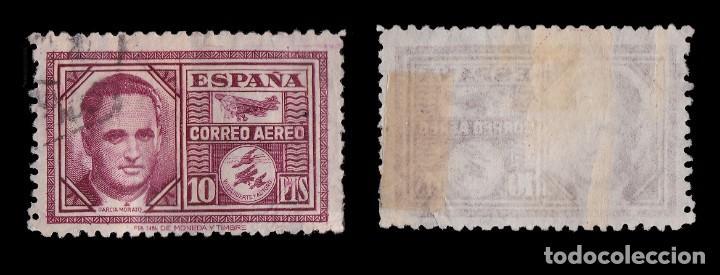 Sellos: 1945.Haya y García Morato. 10p carmín.Usado. Edifil 992 - Foto 2 - 256065740