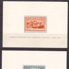 Selos: C59 ANIVERSARIO ALZAMIENTO NACIONAL HOJAS BLOQUES EDIFIL Nº 836-837 ** SIN FIJASELLO. Lote 205098230