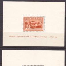 Sellos: A14 ANIVERSARIO ALZAMIENTO NACIONAL HOJITAS TOLEDO NUEVAS SIN GOMA EDIFIL Nº 836-837. Lote 257298695