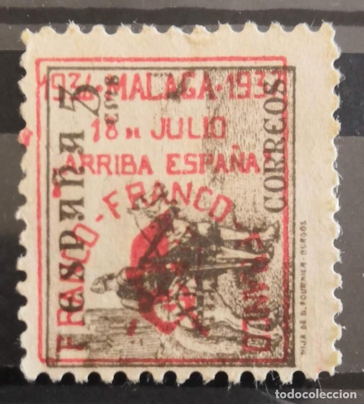 """Sellos: EDIFIL 816A. VARIEDAD DE IMPRESIÓN CON EROOR EN SOBRECARGA """"MÁLAGA 18 DE JULIO. VIVA ESPAÑA"""" - Foto 2 - 257314345"""