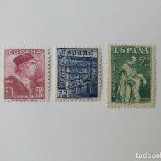 Sellos: FIESTA DE LA HISPANIDAD DEL AÑO 1946 EDIFIL 1002/1004 EN NUEVO**. Lote 257321725