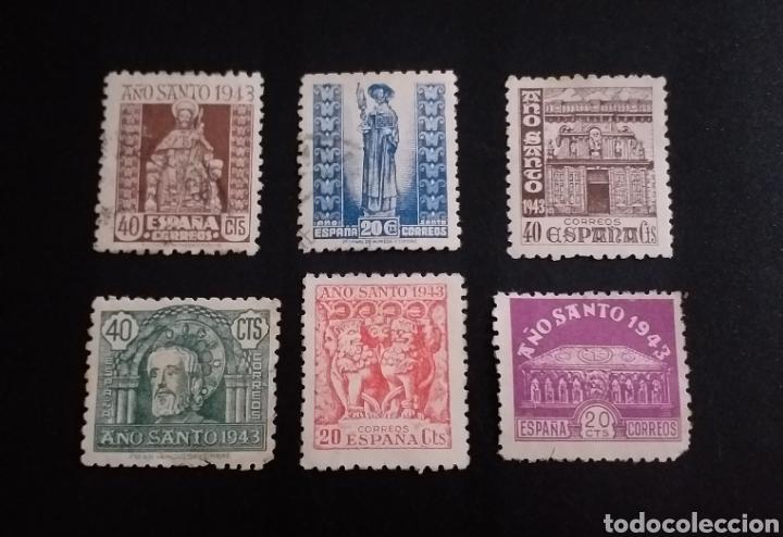 6 SELLOS AÑO SANTO 1943 ESPAÑA (Sellos - España - Estado Español - De 1.936 a 1.949 - Usados)