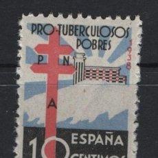 Sellos: TV_003/ ESPAÑA 1938, EDIFIL 866 MNH**, PRO TUBERCULOSOS. Lote 257818595