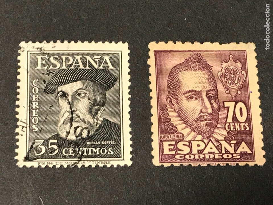 EDIFIL 1035 1036 PERSONAJES, SERIE USADA, LOS DE LAS FOTOS. (Sellos - España - Estado Español - De 1.936 a 1.949 - Usados)