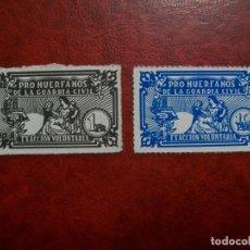 """Sellos: /02.05/-ESPAÑA-VIÑETAS """"PRO HUERFANOS DE LA GUARDIA CIVIL"""". Lote 261193865"""