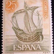 Sellos: ESPAÑA F.N.M.T. 1964. 16 DE JULIO. CARRACA HOMENAJE A LA MARINA ESPAÑOLA.. Lote 261230065