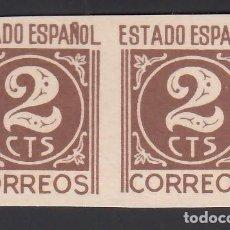 Sellos: ESPAÑA, 1938 EDIFIL Nº 915 S (**), CIFRAS, SIN DENTAR. Lote 262038655