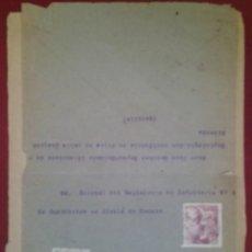 Sellos: SOBRE ALCALA DE HENARES 1942. EL CID. Lote 264808814