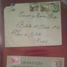 Sellos: SOBRE BATALLA DEL SALADO EL CID TARJETA POSTAL PEDIDO DE LIBRERIA. Lote 264808894