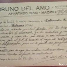 Sellos: TARJETA POSTAL. DRUNO DEL AMO. 1940 MADRID. Lote 264809244