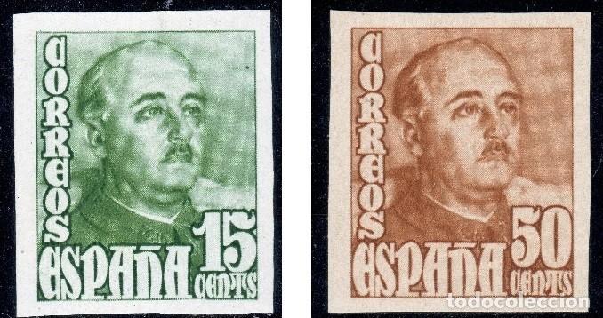 ESPAÑA 19148/1954 GRAL. FRANCO SERIE SIN DENTAR MNH** ALT VALO (750€ EN MH*) BUSCADOS EDIF 1021/1022 (Sellos - España - Estado Español - De 1.936 a 1.949 - Nuevos)