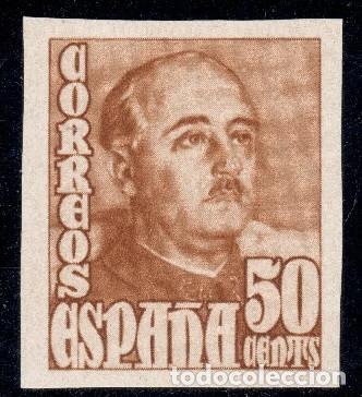 Sellos: ESPAÑA 19148/1954 GRAL. FRANCO SERIE SIN DENTAR MNH** ALT VALO (750€ EN MH*) BUSCADOS EDIF 1021/1022 - Foto 3 - 265656999